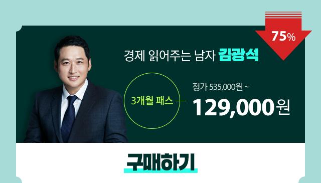 대표강사 패스 김광석 3개월